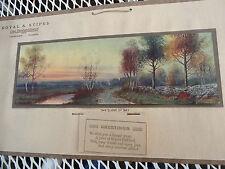 Antique Advertising Calendar 1915 Coal Co. Champaign Illinois - Tree Litho