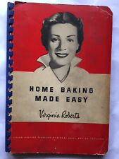 1944 HOME BAKING MADE EASY Cook Book 1940's WWII