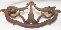 Victorian Scrolls Cast Iron Drawer Pull Filagree Openwork Antique Bureau #2
