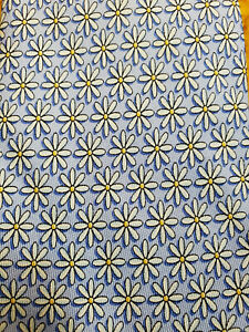 "VINEYARD VINES ~ MENS DRESS SHIRT TIE ~ BLUE w/ DAISY FLORAL ~ 63"" XL TALL LONG"