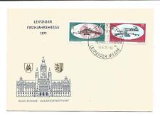 Ersttagsbrief FDC  Leipziger Frühjahrsmesse 1971 Sonderstempel und Messemarken