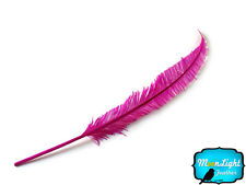 5 Pieces - HOT PINK Long Ostrich Nandu Trimmed Feathers