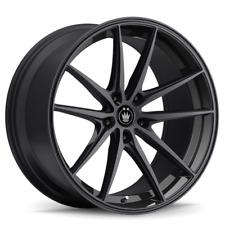 18x8 KONIG OVERSTEER 5x108 +45 Gloss Black Wheels (Set of 4)