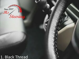 FOR STUDEBAKER E-SERIES TRUCK -BLACK STEERING WHEEL COVER BLACK STITCH
