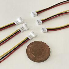 3x Plug & Socket Connector 3 Pin For DCC, Lights , Decoder, TTS, Zimo Loksound
