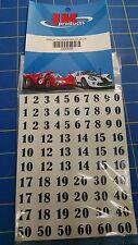 Jk #20033 Black Race Numbers Decals from Mid America Raceway
