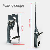 Lightweight Plastic Folding Integrated Fishing Rod With Reel Tackles Accessory