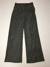 Express Pants Wide Leg High Rise Size 2 Black Gray Wool Blend NWT $79