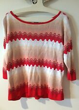 Cute Red Wave MISSONI for Target Knitted Top Size XS (8-10)