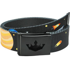 "MEISTER PLAYER GOLF WEB BELT - FITS UP TO 42"" - Pants Stars Planets OUTER SPACE"