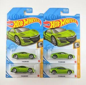 Hot Wheels 17 ACURA NSX - Lot of 4 🟢GREEN🟢 # 148 / 250