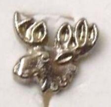 pins bijou rétro unique broche couleur argent tête d'un élan en relief 1151