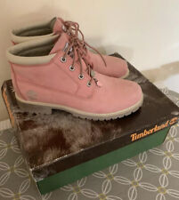 Ladies pink suede leather Timberland hiking walking boots size 8W Size 6