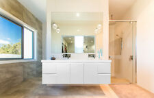 ODYSSEY | 1500mm White Gloss Polyurethane Wall Hung Soft Close Double Vanity