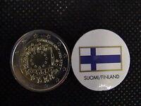 FINLANDIA 2015 2 EURO COMMEMORATIVO 30° anniversario BANDIERA EUROPEA UNC