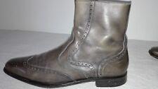 Valentino vintage grey leather man boots, stivaletto grigio. taglia 44.