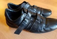 Geox Men's Casual Shoes Black Fashion Sneakers  Leather Size 12.5 US/46 EU