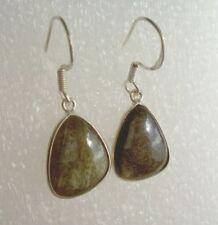 Ohrringe mit Gold Obsidian, 925er Silber - Obsidian