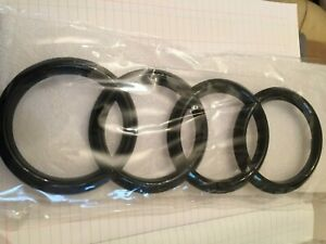 Black Gloss Front Grille Ring Logo Badge Emblem For Audi A1 A3 A4 S4 A5 273x94mm