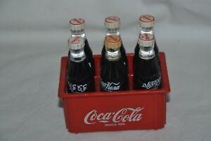 Coca-Cola Miniature Crate with 6 Mini Bottles Multi Language