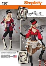Simplicity Pattern 1301 Halloween Fantasy Costumes Sizes 6  8 10 12 14