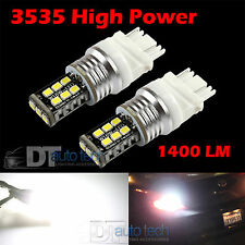 2X 1400 Lumens 3157 60W High Power 6000K White LED Backup Reverse Light Bulbs