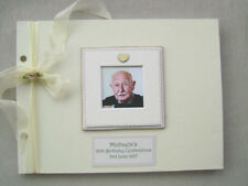Personalised Linen 80th Birthday Guest Book A4 Size With Box..photo Insert
