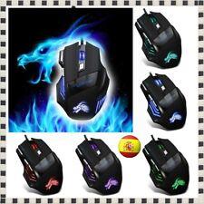 Ratón Con Cable USB para Gaming Gamer 7 botones 5500 PPP Dpi Led para Juegos PC