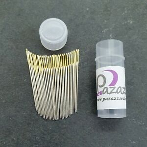 Cross Stitch Needles Embroidery Tapestry Gold Tail Sizes 24 pack of 30