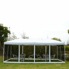 10x20 EZ Pop Up Party Wedding Tent Patio Gazebo Canopy Outdoor Mesh White w/Bag