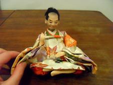 Muñeca Japonesa Hina-Macho-Vintage 13cm-Coleccionable-Hecho en Japón