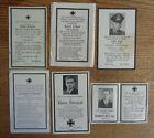 Sterbebild Konvolut,  WW2 WK2, 6 Stück, Wehrmacht, WW2 WK2