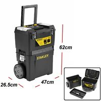 Extra large Tool Box On Wheels Rolling Mobile Work Centre Heavy Duty Storage Che