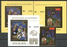 100 Jahre UPU, Space - Dahomey - LOT ** MNH 1974
