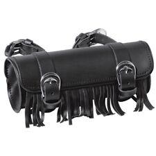 Held Werkzeugrolle mit Fransen Leder Gepäcktasche aus Rindsleder für Motorrad