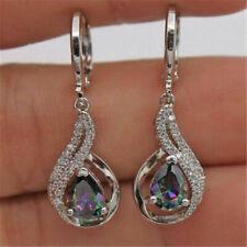 Elegant Women Lady Hook Earrings Crystal Ear Stud Dangle Waterdrop Jewelry Gifts