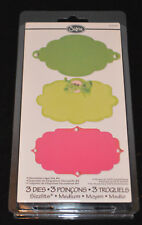 Sizzix Medium 3 Dies 556537 Decorative Label Set #4