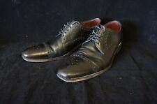 Loake Black Leather Mens Almond Toe Brogues (UK Size 9)