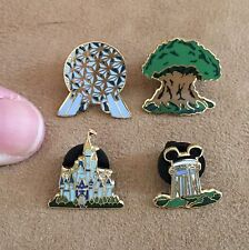 Mini Four Parks One World Disney pin set Icon epcot castle tower tree 3189