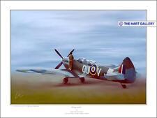 Carolyn Grace Supermarine Spitfire Aircraft Aeroplane Aviation Print Ltd. Ed.
