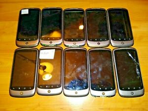 LOT 10x BROKEN HTC NEXUS ONE 1 UNLOCKED ANDROID RARE CELL PHONES CELLULAR PARTS