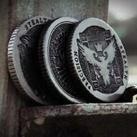 1 Ellusionist Artifact Coin r2 (SILVER) Half Dollar for Real Coin Magic Trick
