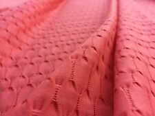 Elastane & Polyester Embossed Jersey 'Helm', Coral (per metre) dress fabric