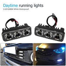 3 LED Daytime Running Light DRL Daylight Kit Fog Lamp Day Time Lights Hot