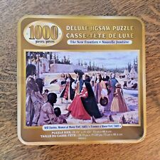 Women at Moose Fort 1683 Historical Puzzle New Frontiers 1000 pc Tin Canadian