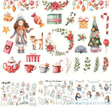 Lovely Hand Painted Christmas Adhesive Sticker DIY Hand Account Diary Scrapbook