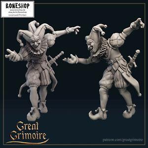 "Tarot ""Jester"" Great Grimoire   28mm-35mm   DnD   RPG   Boneshop"