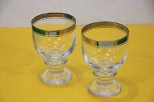 2 Wein-oder Wassergläser THOMAS Serie Cabana mit einem Platinrand