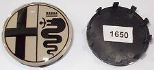 Coprimozzo diametro 60 mm ALFA ROMEO fondo argento