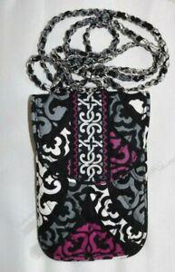 VERA BRADLEY Cell Phone Crossbody - Canterberry Magenta & Black - NEW